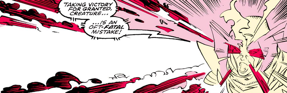 Psylocke of the X-Men (Marvel Comics) psychic blast in astral blast