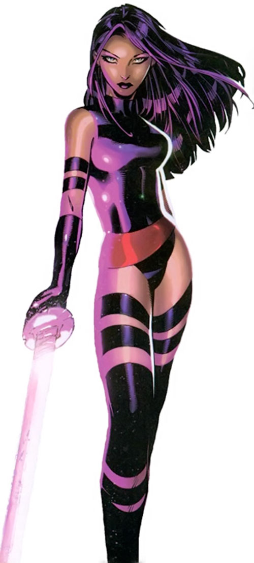 Psylocke of the X-Men and Exiles (Marvel Comics) by Chris Bachalo