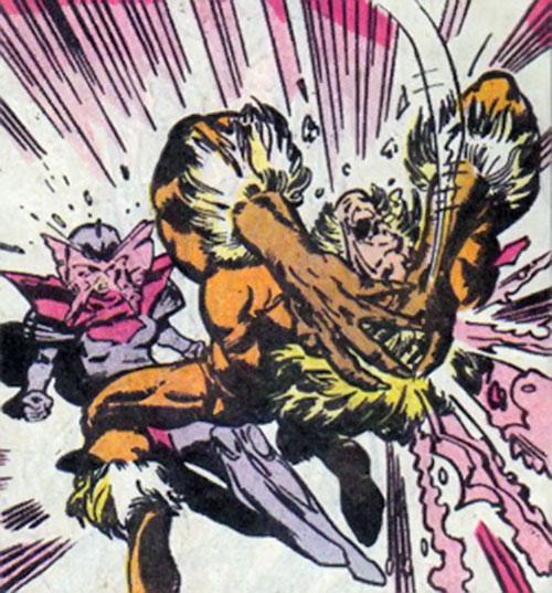 Psylocke of the X-Men (Marvel Comics) vs. Sabtertooth