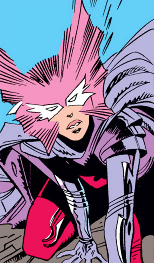 Psylocke of the X-Men (Marvel Comics) butterfly mask