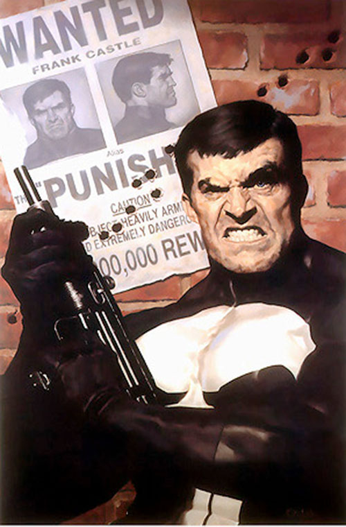 Punisher (Marvel Comics) with a Uzi
