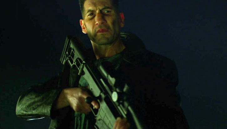 Punisher (Jon Bernthal in Netflix's Daredevil season #2) with a sniper rifle