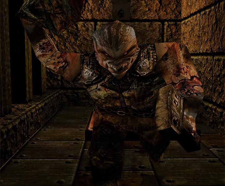 Quake Ogre charging (Dark Places)