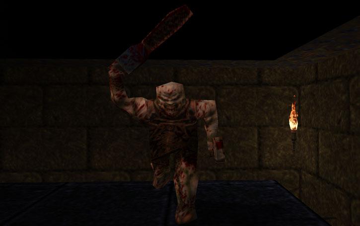Ogre in Quake, attacking