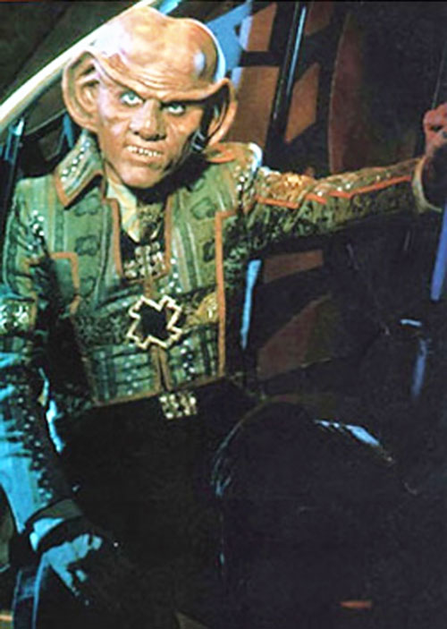 Quark (Armin Shimerman in Star Trek) with a green jacket