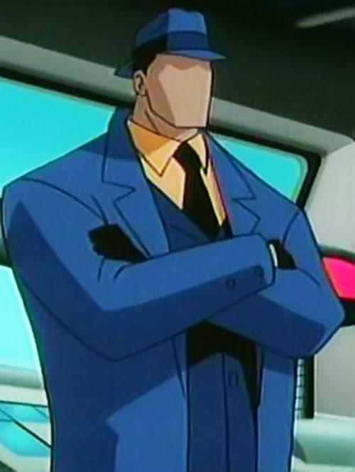 Question (Justice League Unlimited) with arms crossed