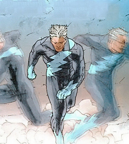 Quicksilver (Marvel Comics) using time-displaced doubles