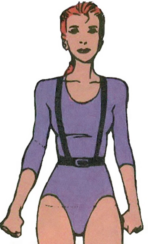 Rachel Summers of the X-Men (Marvel Comics) in a purple leotard