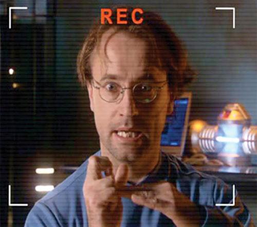 Radek Zelenka (David Nykl in Stargate Atlantis) looking excited