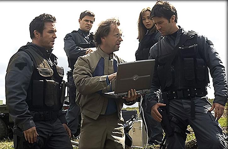 Dr. Radek Zelenka (David Nykl) and Stargate colleagues