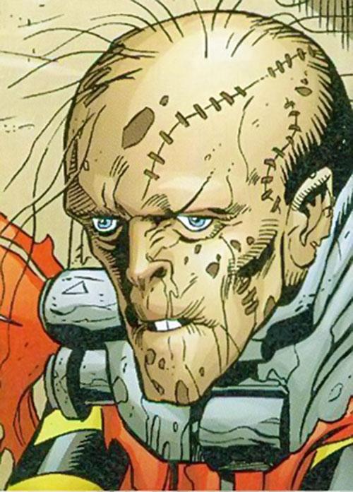 Ragdoll of the Secret 6 (DC Comics) face closeup