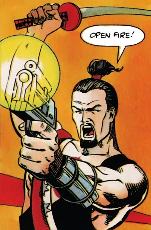Rai (Valiant Comics 1990s) (Takao Konishi) opens fire