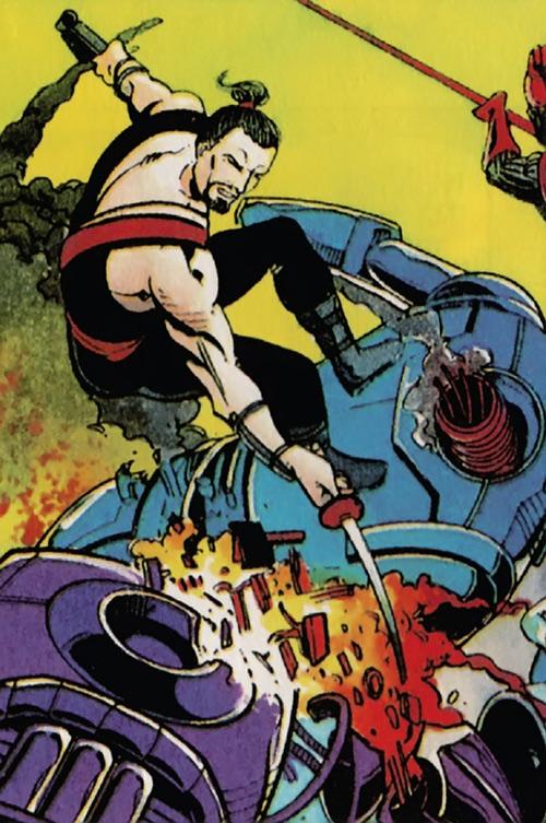 Rai (Valiant Comics 1990s) (Takao Konishi) vs. robots