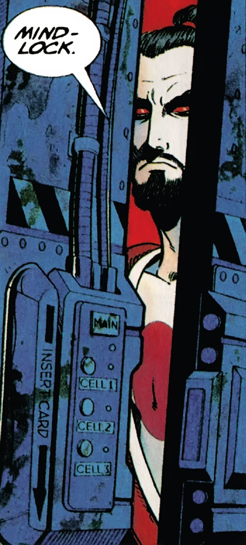 Rai (Valiant Comics 1990s) (Takao Konishi) mindlock slightly open door