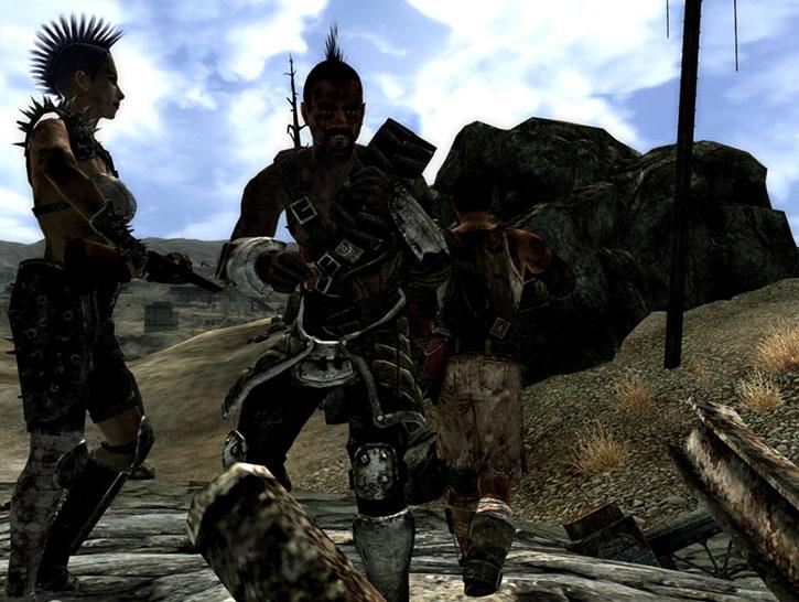 A raider patrol in the Wasteland