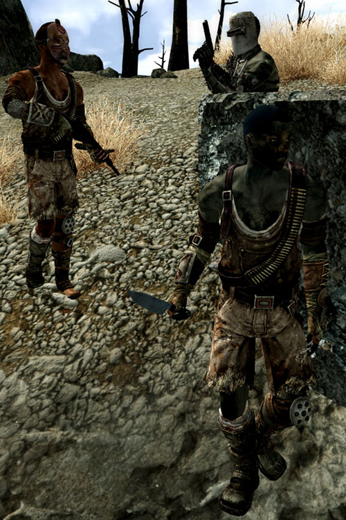 Fallout 3 raider - patrol on a rocky slope