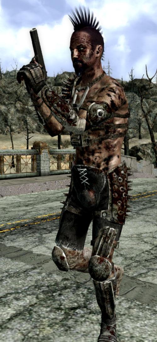 Fallout 3 raider - mohawk and raised pistol
