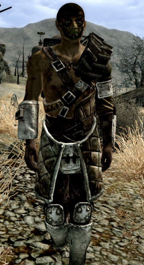 Fallout 3 raider - tire armor and facepaint