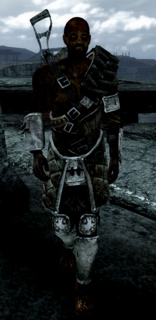 Fallout 3 raider - tire armor and Chinese rifle