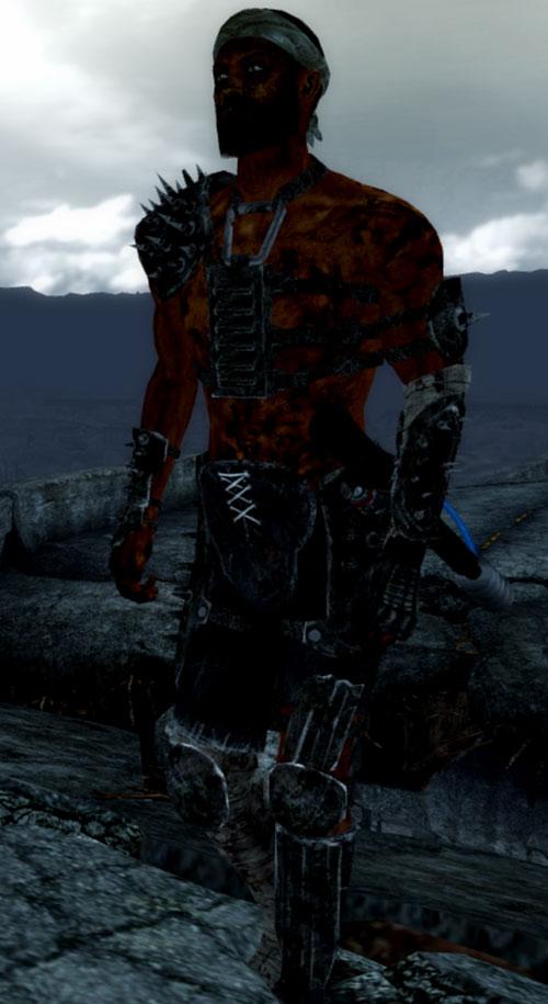 Fallout 3 raider - darker skin, cattle prod