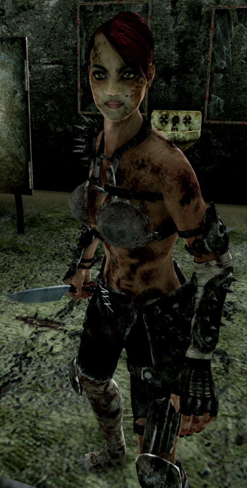 Fallout 3 raider - woman with butcher knife