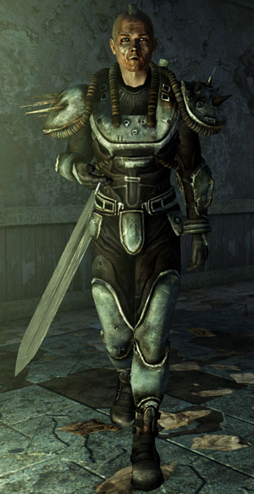 Fallout 3 raider - pit dog with sword