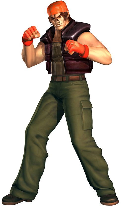 Ralf Jones (King of Fighter) ready to fight on guard