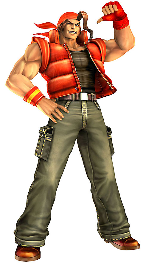 Ralf Jones (King of Fighter) with a red puffy vest