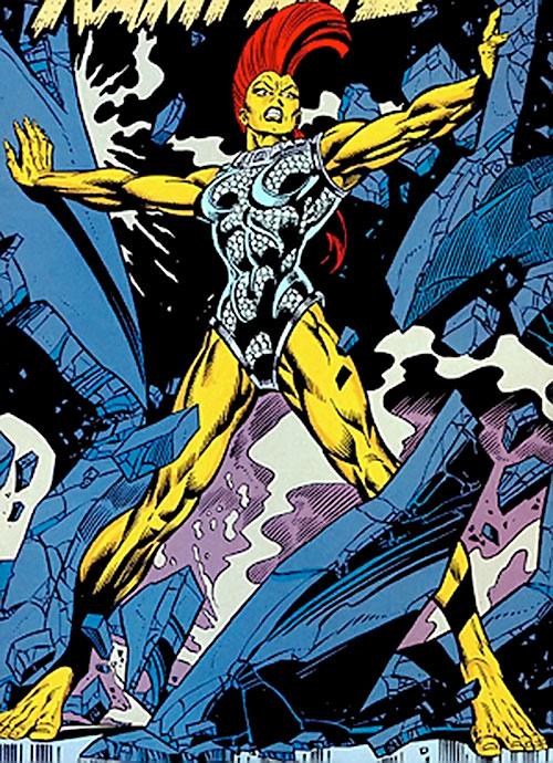 Rampage (Superman character) (DC Comics) tearing apart a steel door