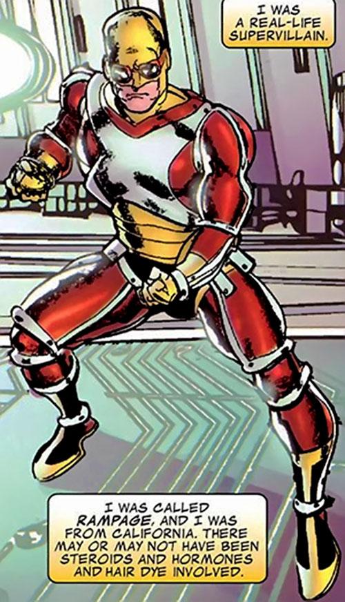 Rampage (Clarke) (Marvel Comics) posing