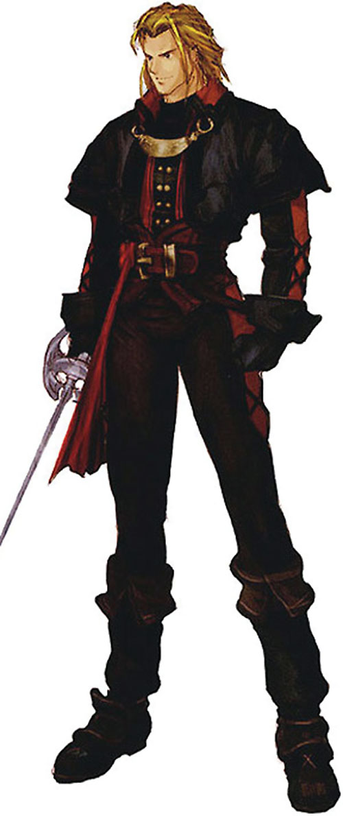 Raphael Sorel (Soul Calibur) in black and red