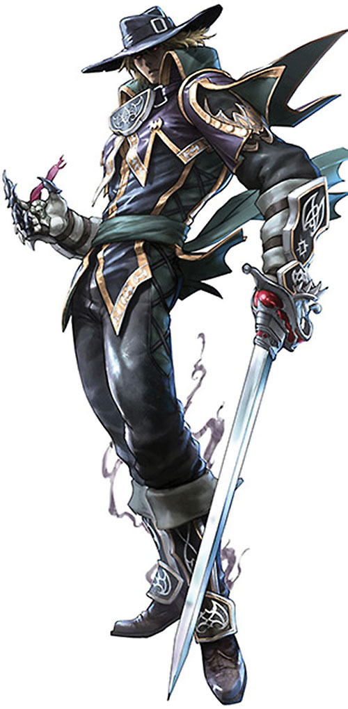 Raphael Sorel (Soul Calibur) with hat and clawed gloves