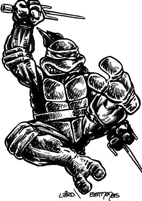Raphael of the Teenage Mutant Turtles (TMNT comics) Laird Eastman 85