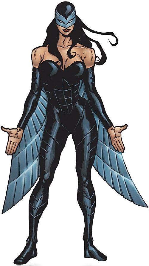 Raptor (Spider-Girl character) (Marvel Comics MC2) (Drago) handbook illustration