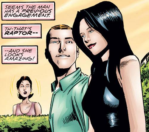 Raptor (Spider-Girl character) (Marvel Comics MC2) (Drago) with Normie Osborn