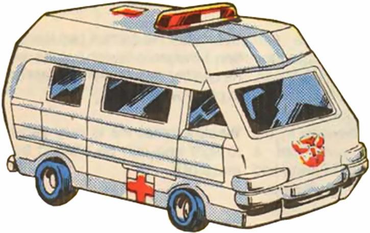 Ratchet of the Transformers (1980s Marvel Comics) ambulance form