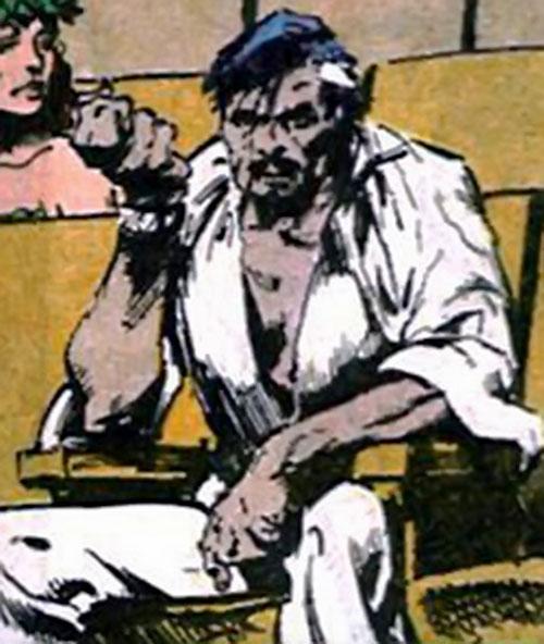 Ravan of the Suicide Squad (DC Comics) sitting