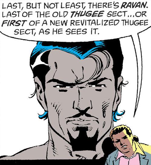 Ravan of the Suicide Squad (DC Comics) face closeup