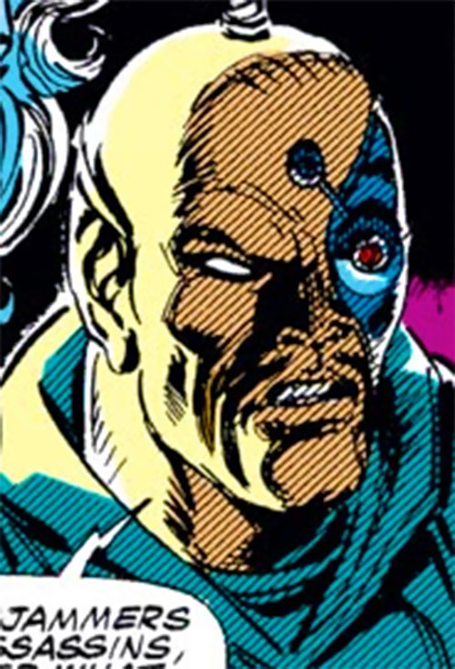Raza of the Starjammers (Marvel Comics, X-Men) shadowed face closeup