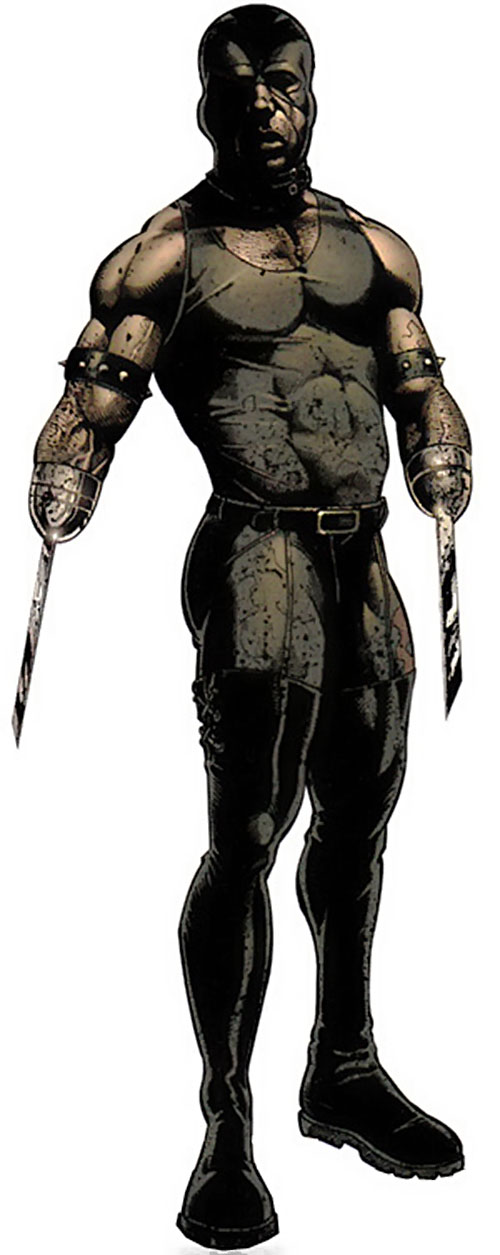 Razor-Fist II (Marvel Comics) with blood-splattered clothing
