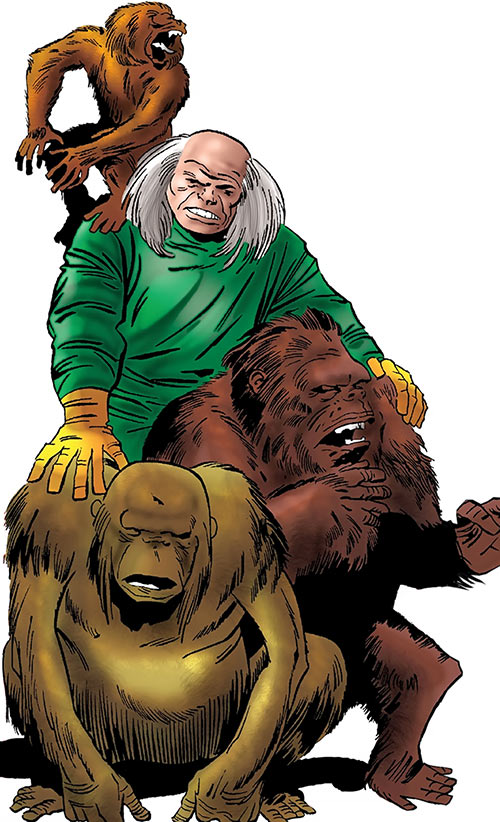 Red Ghost (Marvel Comics) with his Super-Apes during the 1960s