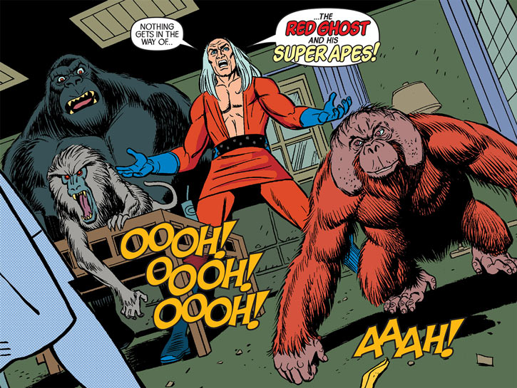 Red Ghost (Ivan Kragoff) and his Super-Apes
