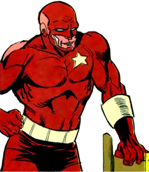 Red Guardian (Lebedev) (Marvel Comics) leaning on a chair