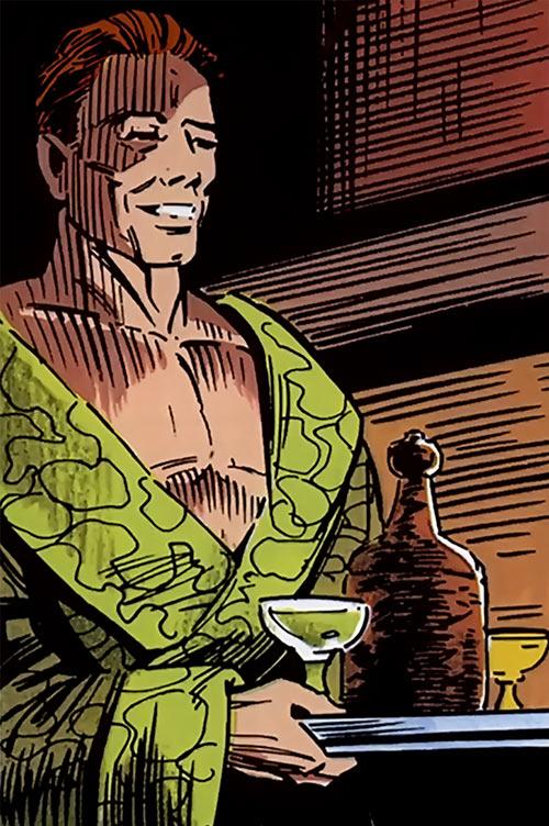 Red Guardian (Shostakov) (Black Widow enemy) (Marvel Comics) in a bathrobe