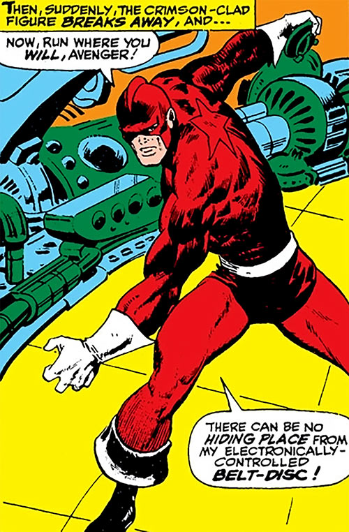 Red Guardian (Shostakov) (Black Widow enemy) (Marvel Comics) about to hurl his disc