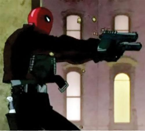 Red Hood (Batman animated movie) dual-wielding pistols