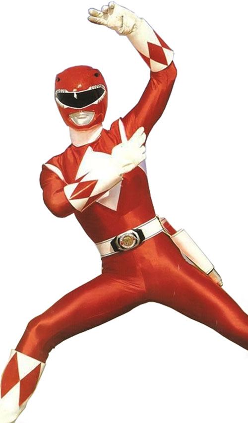 Red Ranger (Jason) of the Mighty Morphin Power Rangers - karate pose