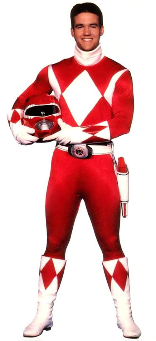Red Ranger (Jason) of the Mighty Morphin Power Rangers - with his helmet off