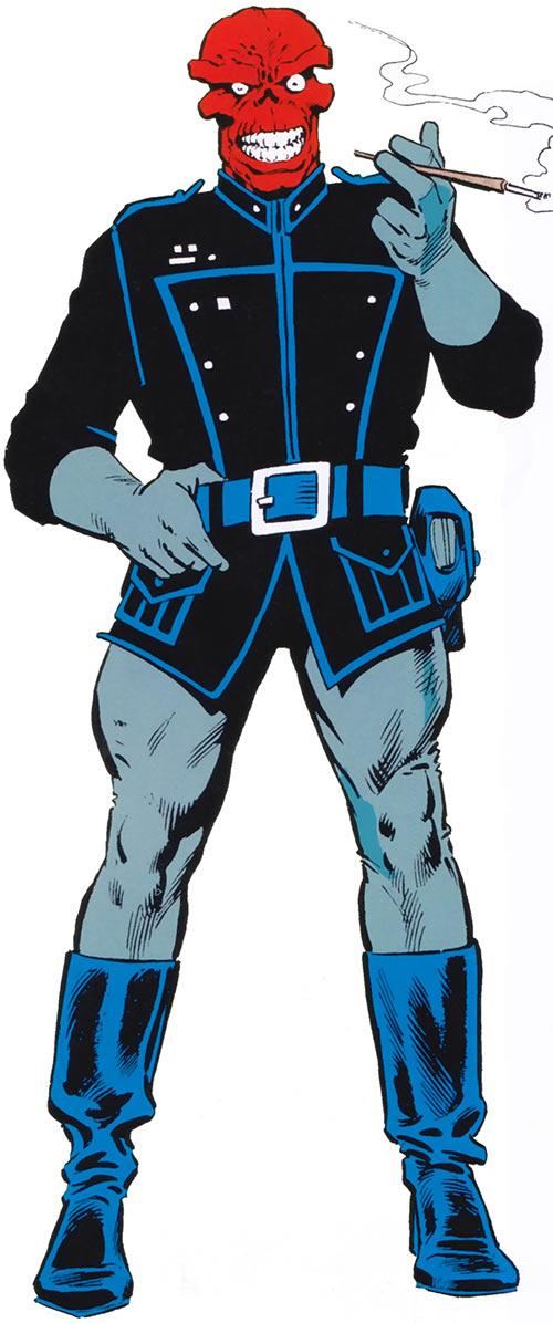 Red Skull (Captain America enemy) (Marvel Comics) grey and black