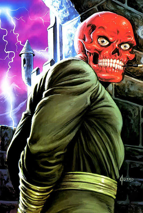 Red Skull (Captain America enemy) (Marvel Comics) by Joe Jusko castle